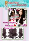 3layershairclipextension55cm