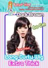 60cm Long Curly Extra Thick Side Bangs Wig