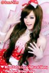 80cm Extra Long Natural Wavy Side Bangs Wig