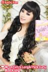 80cm Extra Long & Thick Curly Front Bangs Wig